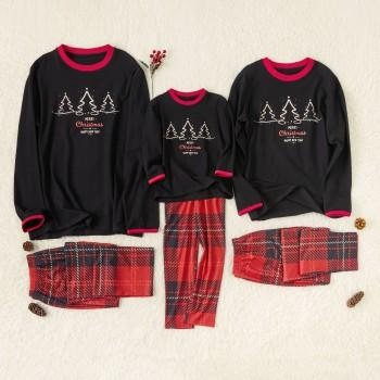 Christmas Printed Plaid Family Matching Pajamas