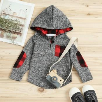 Toddler Patchwork Hooded Top