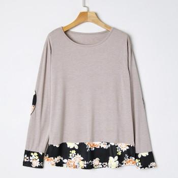 Women's Floral Printed Long Sleeve T-shirt
