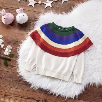 Rainbow Cape Sweater