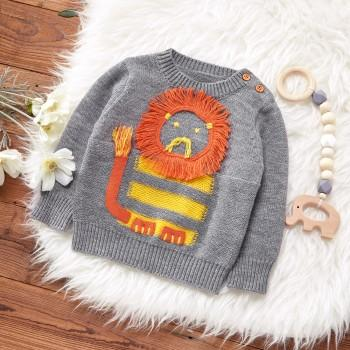 Baby Lion Applique Sweater