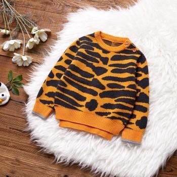 Zebra Striped Sweater