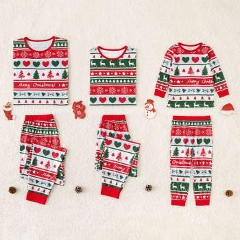 09bab34d40 Colorful Family Pajamas with Christmas Pattern