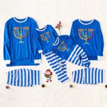 Bright Candle Family Pajamas for Hanukkah