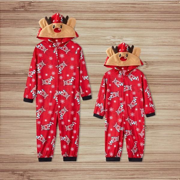Reindeer Christmas Family Matching Onsie Pajama