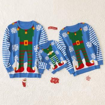 Christmas Elf Family Cotton Sweaters
