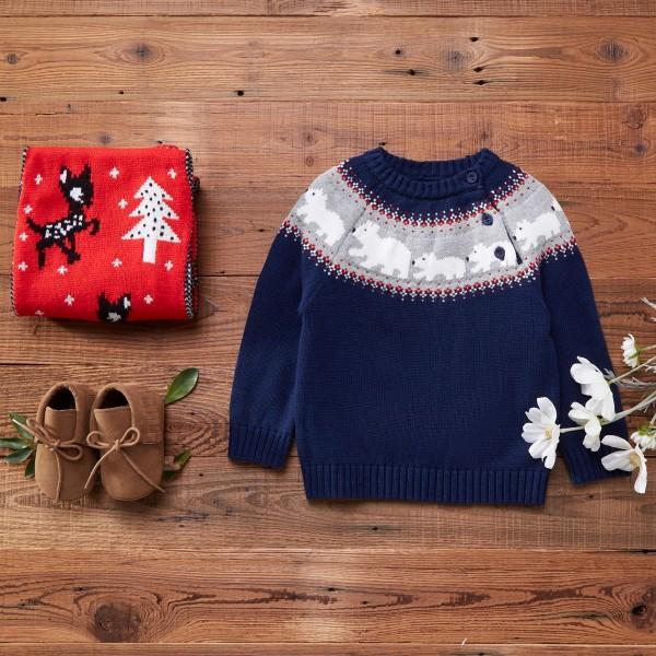 Christmas Button-up Shoulder Sweater