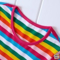 Mosaic Girls Rainbow Stripe Twirl  Dress