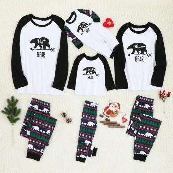 Christmas Bear Pattern Pajama Set for Family