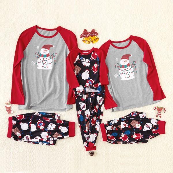Christmas Snowman Family Pajamas Sets