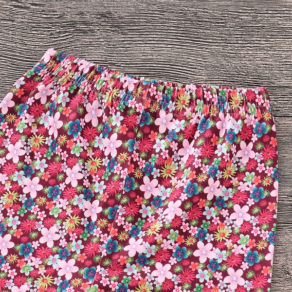 Owl Applique Lace Trimmed Floral Set
