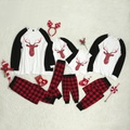 Sweet Family Matching Long Sleeves Top and Plaid Pants Lounge Set