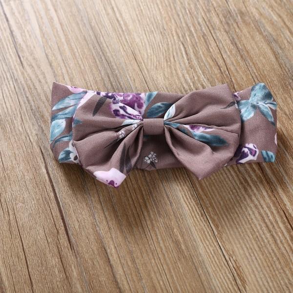 3-piece Lace Trim Floral Set with Bows