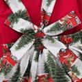 Christmas Ruffle Top and Suspender Skirt Set
