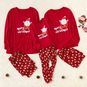 Cute Santa Claus Family Pajamas Sets