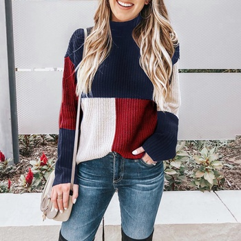 Women's Colorblock Long Sleeve Sweater