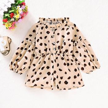 Puff-sleeve Leopard Jumpsuit