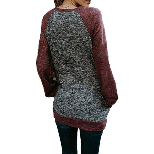 Trendy  Women's Color contrast  Sweatshirt