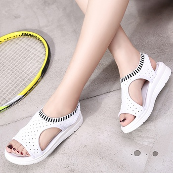 Casual Stretchy Hollow out Sandals