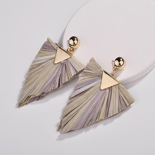Pretty Triangle Design Splice Earrings