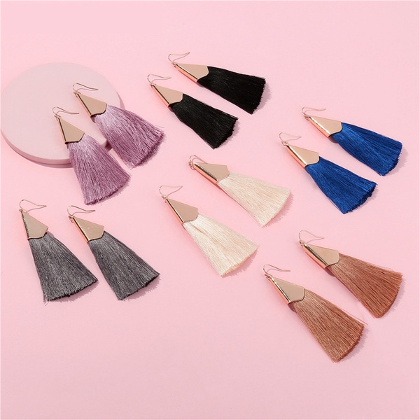Stylish Tasseled Thread Earrings