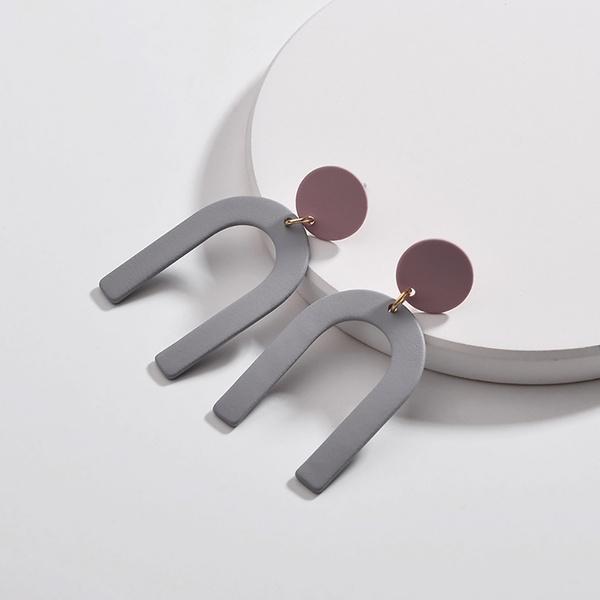 Stylish Geo Robot Design Earrings
