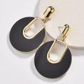 Stylish Splice Oval Earrings