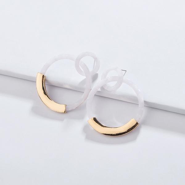 Graceful Alloy Hoop Earrings