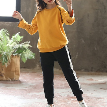 Beautiful Matching Yellow Tee and Pants Set for Kid