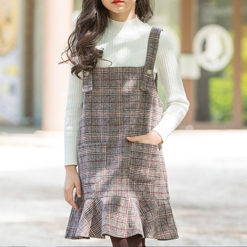 Sassy Plaid Pleated Suspender Dress