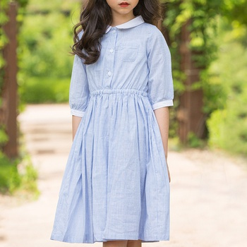 Casual Half-sleeve Striped Dress