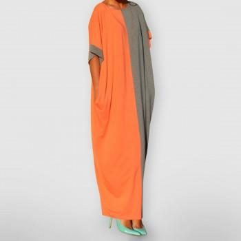 Color Block Loose Maxi Dress