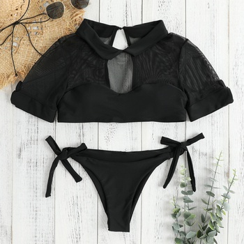 Women's Two-pieces Mesh Swimsuit Set