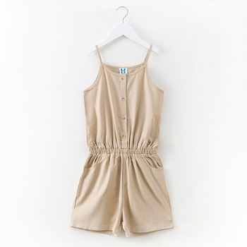 Casual Solid Sleeveless Romper