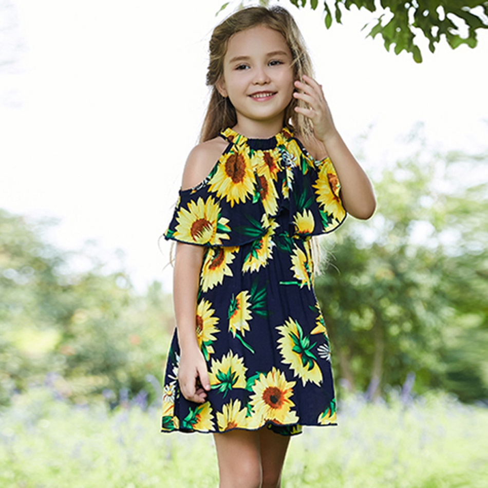 a35ea3a3815 Recommended Sunflower A-Collar Falbala Girl s Dress at PatPat.com