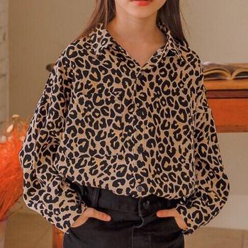 Stylish Leopard Design Shirt for Girl