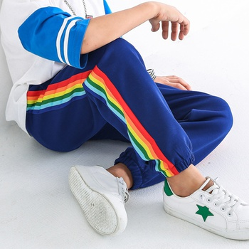 Trendy Rainbow Striped Pants