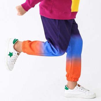 Stylish Faded Color Blocked Pants