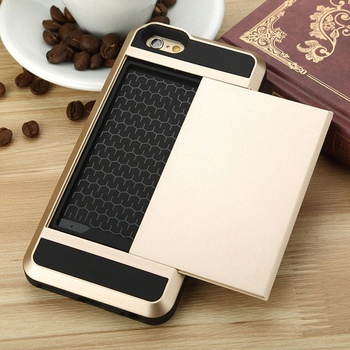 Practical 2 In 1 Slide Card Slot Phone Case for iPhone