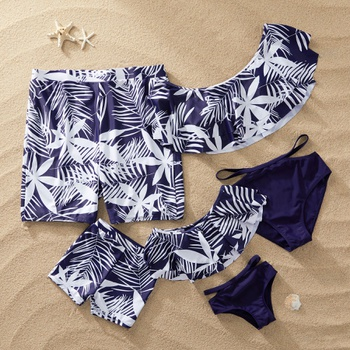 d3b7f13fbc7 Leaves Print Family Swimsuits