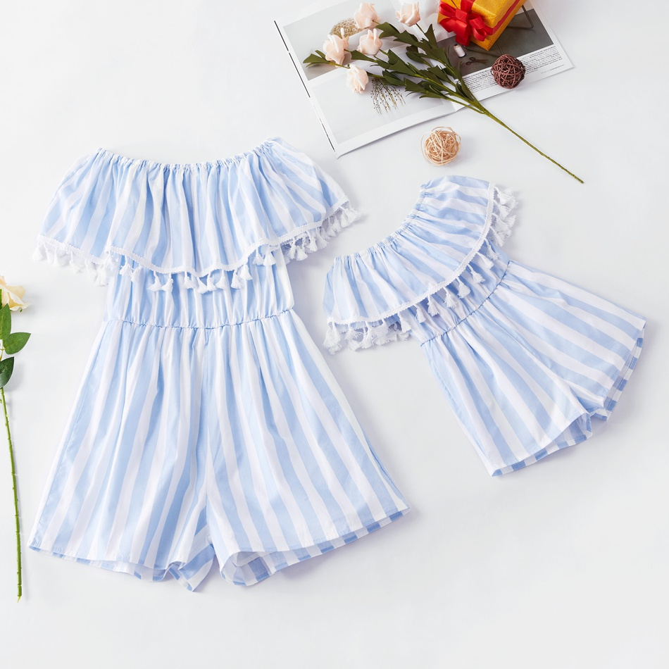 acbf51809672 Off-Shoulder Playsuit for Mommy and Me at PatPat.com