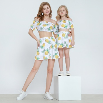 Pineapple Matcing Dress for Mom and Me