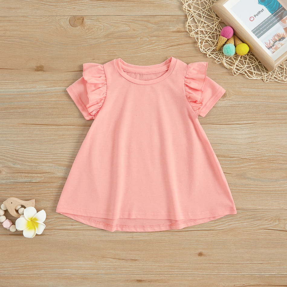 ed481a1de7b Baby Pretty Floral Pattern Ruffled Sleeve Dress for Baby Girl at ...