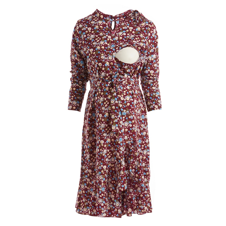 a0b5fbeed256 Maternity | Floral Ruffle Maternity Dress at PatPat.com