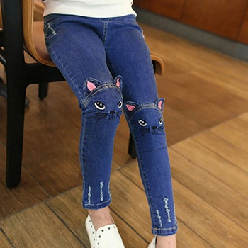 Cat Design Jeans for Kid