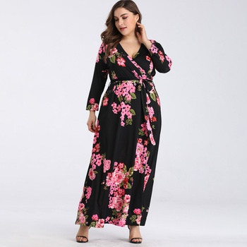 da5f6b843 print floral wrap dress maxi