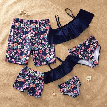 Cute Floral Family Swimsuits