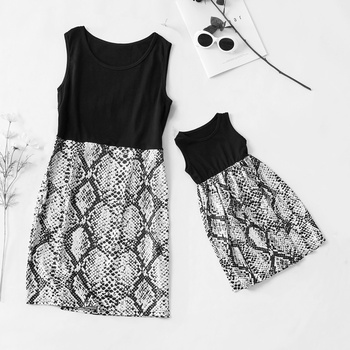 b938931ad51d Snake Pattern Matching Dress for Mom and Me