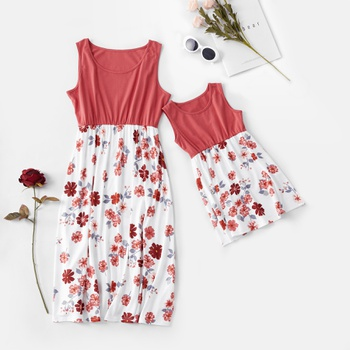 b780ba4160b6 Daisy Print Dresses For Mommy and Me