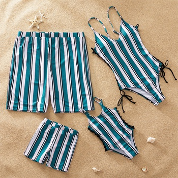 Striped and Side Rope Family Swimsuits